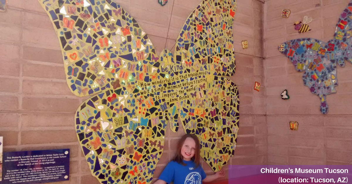 Butterfly Installation at Children's Museum in Tucson, AZ