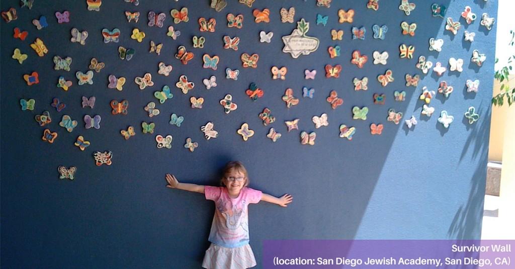 Butterfly installation at San Diego Jewish Academy in San Diego, CA