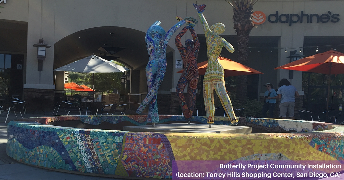 Butterfly Installation at Torrey Hills Shopping Center in San Diego, CA