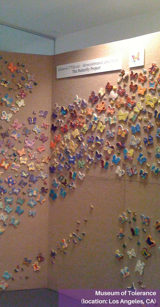 Butterflies at the Museum of Tolerance in Los Angeles, CA