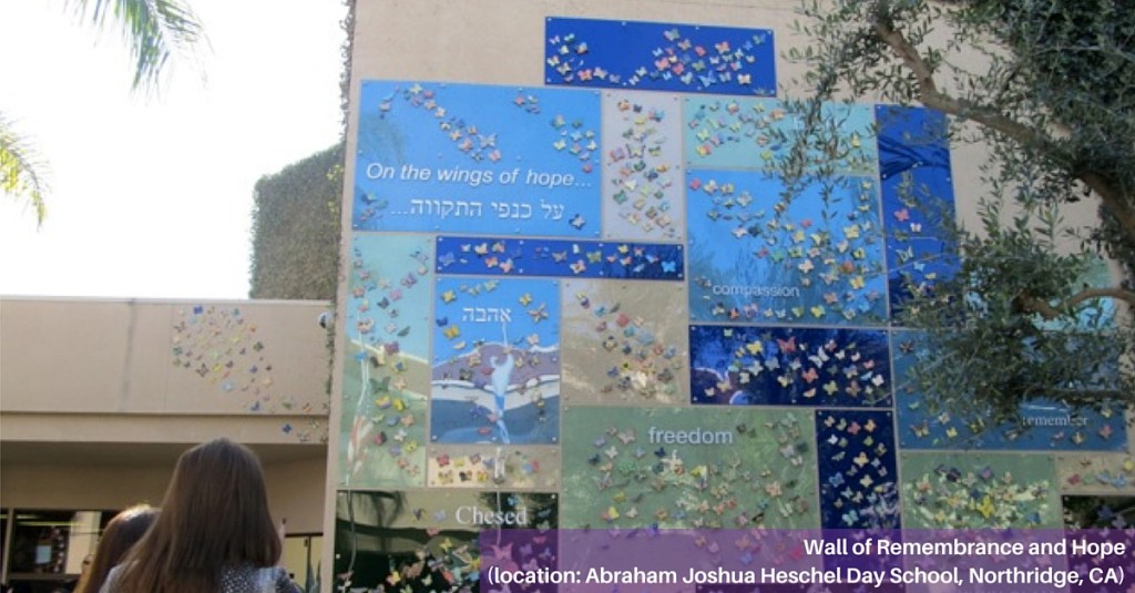 Butterfly Installation at Abraham Joshua Heschel Day School in Northridge, CA