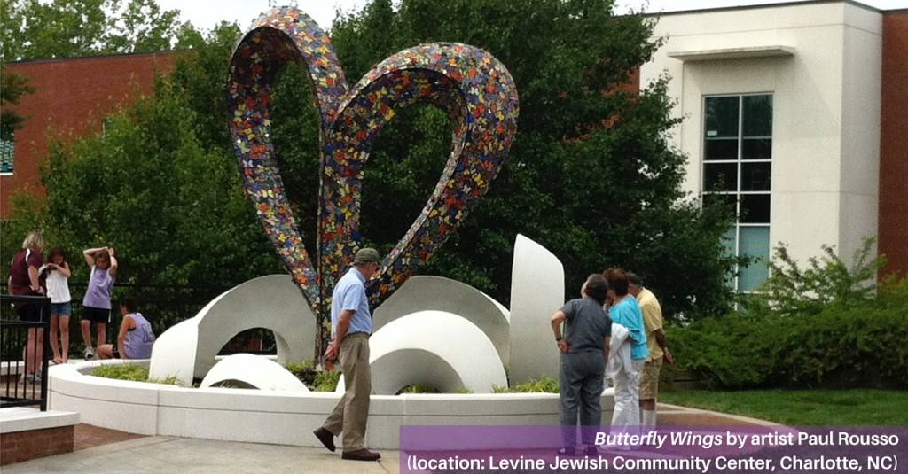 Butterfly installation by Levine Jewish Community Center in Charlotte, NC