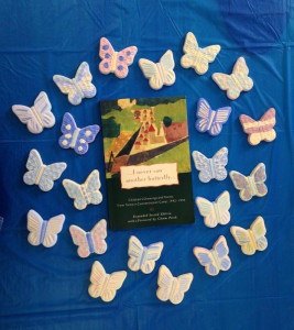 Painted butterflies circle The Last Butterfly book