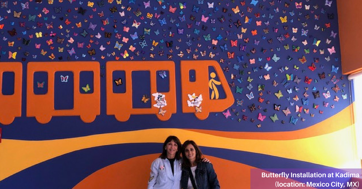 Butterfly installation by Kadima in Mexico City, MX