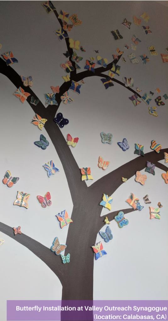 Butterfly installation by Valley Outreach Synagogue in Calabasas, CA